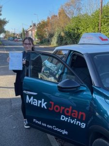 Driving lessons in Swadlincote, Emily Passed First Time
