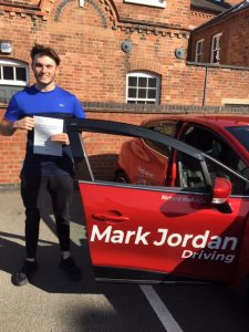 driving instructors in ashby. -Max passed first time with Mark Jordan Driving